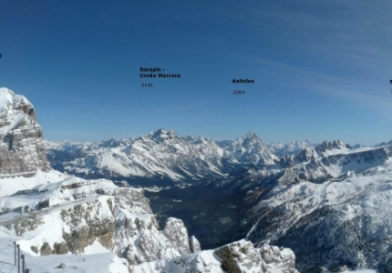 Italy - Dolomiti - Overview from Lagazuoi