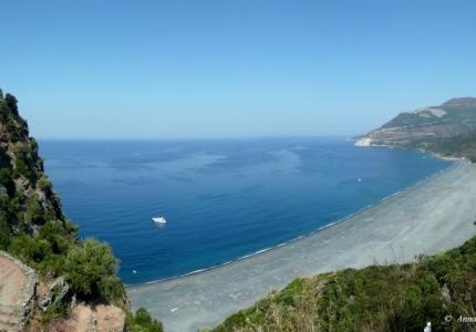 France - Corsica - Black beach of Nonza