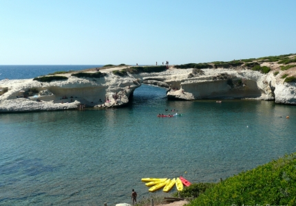 Italy - Sardegna - S'Archittu - Falesia di calcari fossiliferi